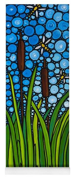 Dragonfly Pond By Sharon Cummings Yoga Mat