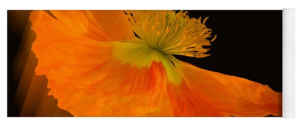 Dramatic Orange Poppy Yoga Mat
