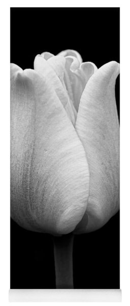 Dramatic Tulip Flower Black And White Yoga Mat