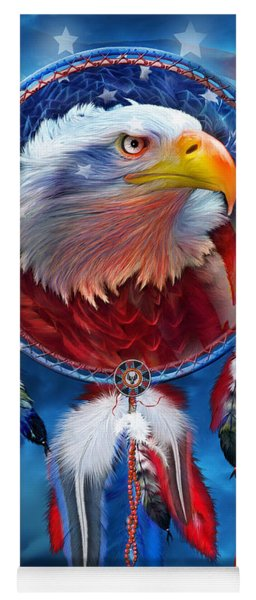 Dream Catcher - Eagle Red White Blue Yoga Mat