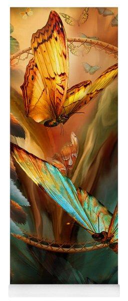 Dream Catcher - Spirit Of The Butterfly Yoga Mat