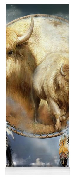 Dream Catcher - Spirit Of The White Buffalo Yoga Mat