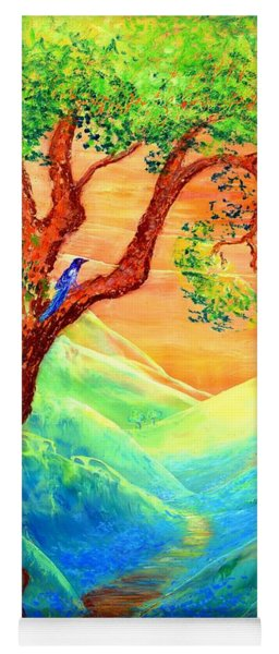 Dreaming Of Bluebells Yoga Mat