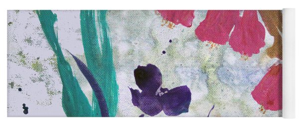 Dreamy Day Flowers Yoga Mat