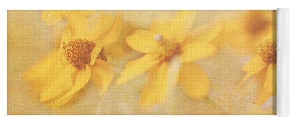 Dreamy Yellow Coreopsis Yoga Mat