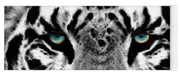 Dressed To Kill - White Tiger Art By Sharon Cummings Yoga Mat