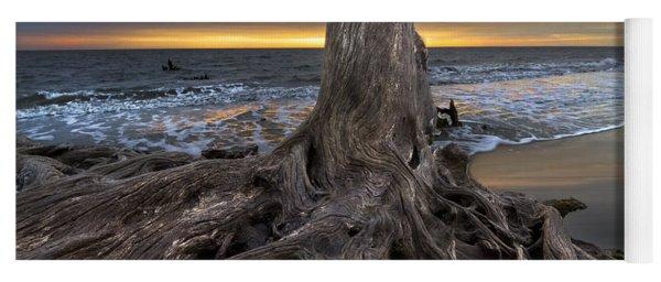 Driftwood On Jekyll Island Yoga Mat