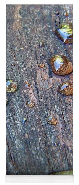 Drops On Wood Yoga Mat