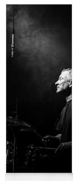 Drummer Portrait Of A Muscian Yoga Mat