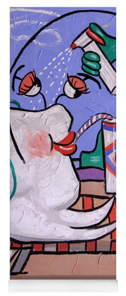 Dry Tooth Dental Art By Anthony Falbo Yoga Mat