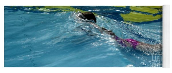 Ducking Under A Wave In A Pool Yoga Mat