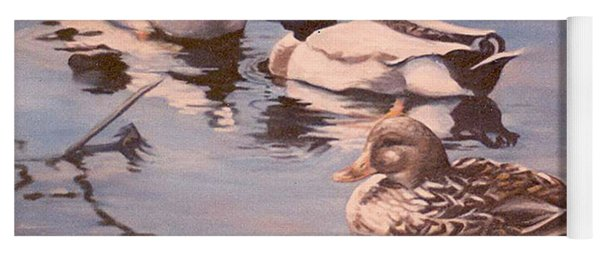 Ducks On The Cachuma Yoga Mat