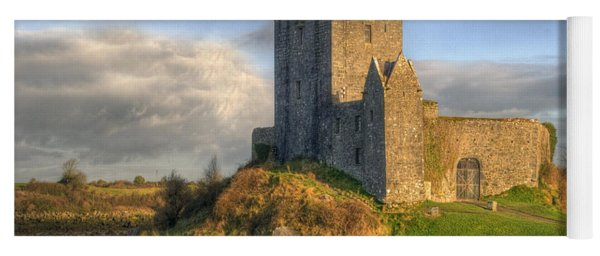 Dunguaire Castle With Dramatic Sky Kinvara Galway Ireland Yoga Mat
