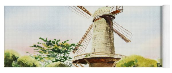 Dutch Windmill In San Francisco  Yoga Mat
