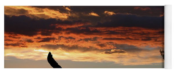 Eagle At Sunset Yoga Mat