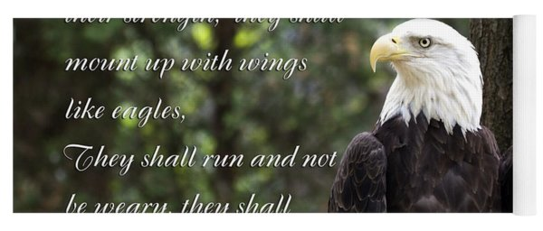 Eagle Scripture Isaiah Yoga Mat