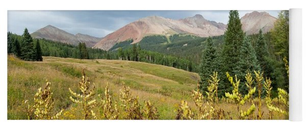 Yoga Mat featuring the photograph Early Autumn In The San Juans -  Mount Wilson And Wilson Peak by Cascade Colors