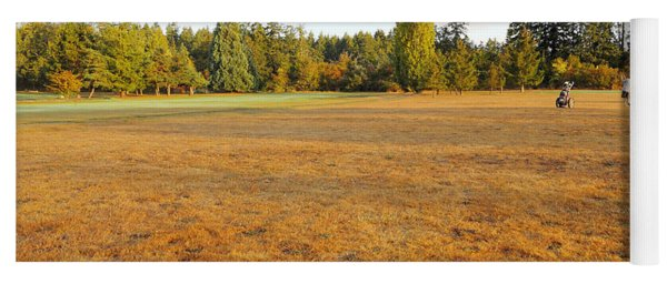 Early Fall Morning In The Rough On The Golf Course Yoga Mat