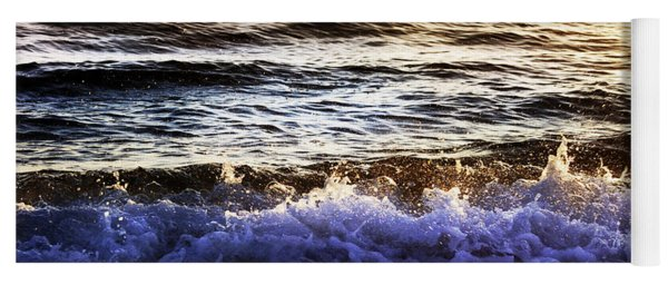 Early Morning Frothy Waves Yoga Mat
