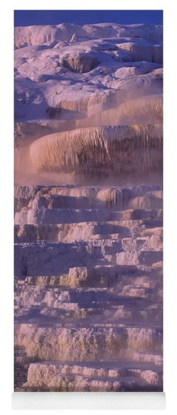 Early Morning Light On Minerva Springs Yellowstone National Park Yoga Mat