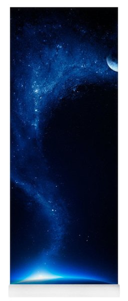 Earth And Moon Interconnected Yoga Mat