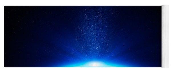 Earth Sunrise In Space Yoga Mat