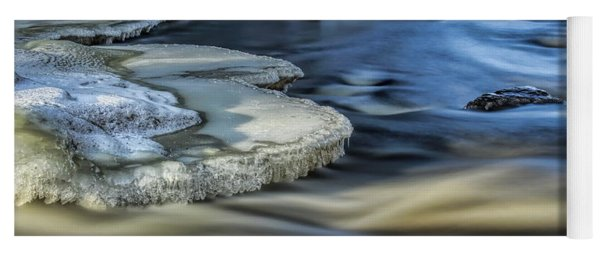 Eau Claire River Ice Yoga Mat