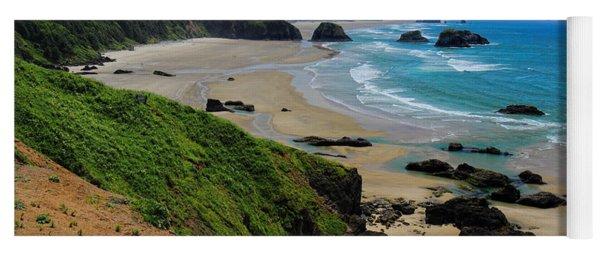 Ecola State Park Beach Yoga Mat