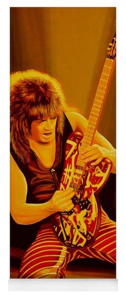 Eddie Van Halen Painting Yoga Mat