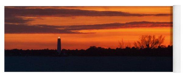 Egmont Key Lighthouse Sunset Yoga Mat