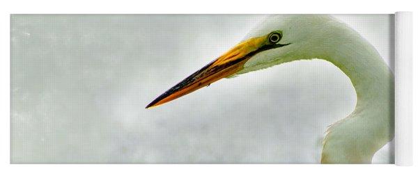 Egret Close-up Yoga Mat