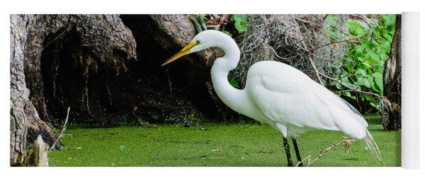 Egret Fishing Yoga Mat