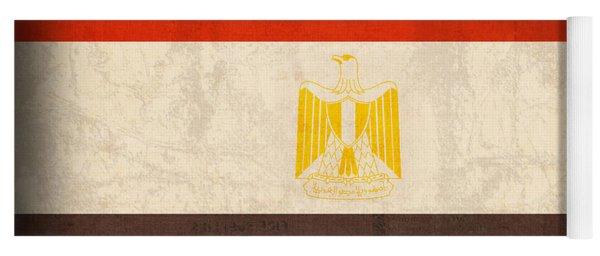 Egypt Flag Distressed Vintage Finish Yoga Mat