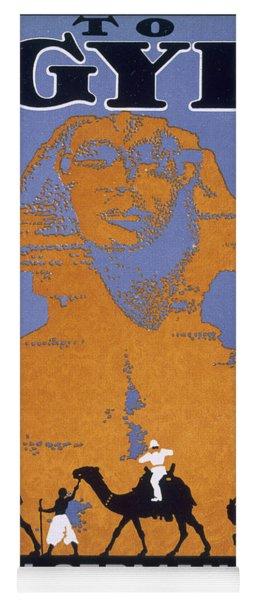 Egypt, Poster Advertising Norddeutscher Yoga Mat
