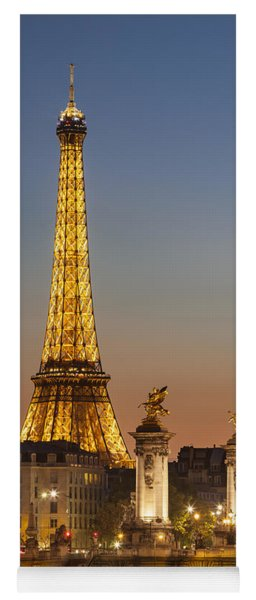 Yoga Mat featuring the photograph Eiffel At Twilight by Brian Jannsen
