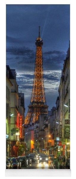 Eiffel Over Paris Yoga Mat