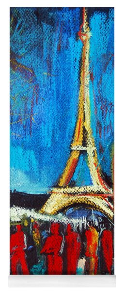 Eiffel Tower And The Red Visitors Yoga Mat