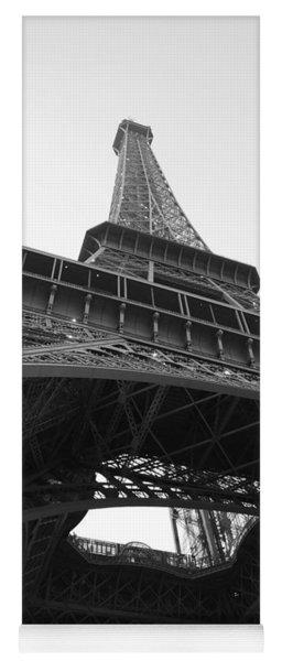 Eiffel Tower B/w Yoga Mat