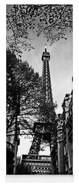 Eiffel Tower Black And White Yoga Mat