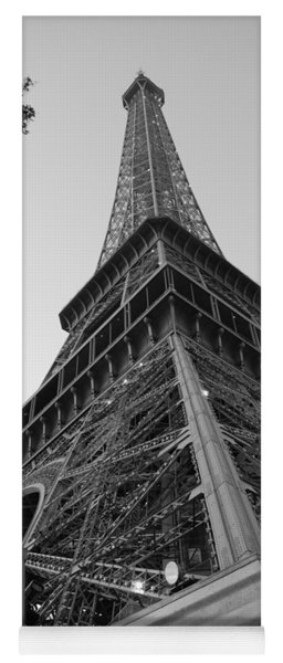 Eiffel Tower In Black And White Yoga Mat