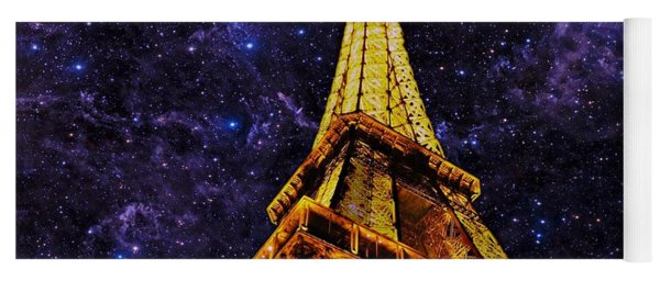 Yoga Mat featuring the photograph Eiffel Tower Photographic Art by David Dehner