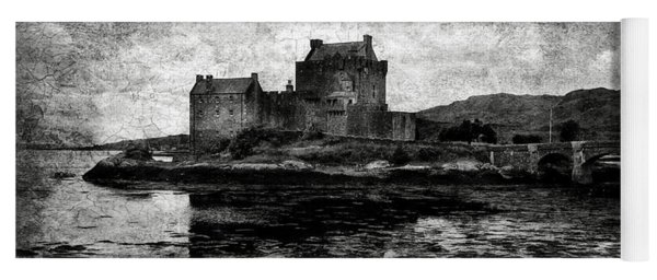 Eilean Donan Castle In Scotland Bw Yoga Mat