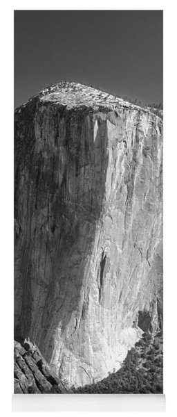 106663-el Capitan From Higher Cathedral Spire, Bw Yoga Mat