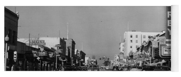 El Rey Theater Main Street Salinas Circa 1950 Yoga Mat
