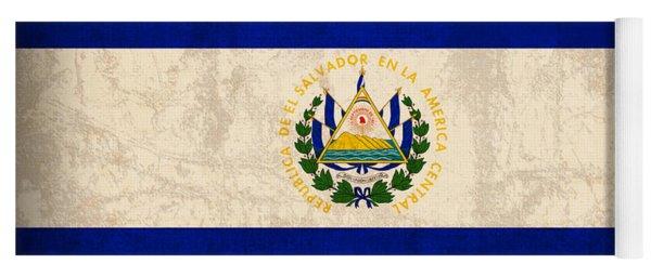 El Salvador Flag Vintage Distressed Finish Yoga Mat