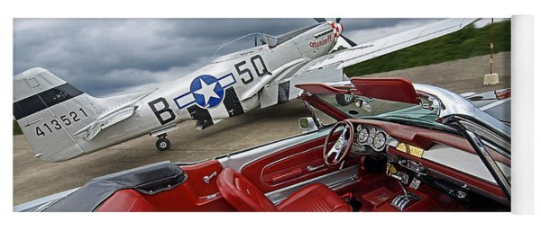 Eleanor Cockpit With P51 Mustang Yoga Mat