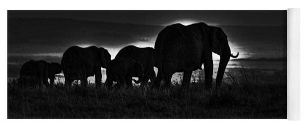 Elephant Family Yoga Mat
