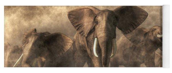Elephant Stampede Yoga Mat