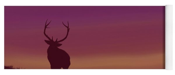 Elk At Dusk Yoga Mat