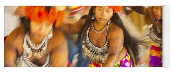 Embera Villagers In Panama Yoga Mat